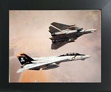 F-14 Tomcat Aviation Jet Aircraft Contemporary Framed Picture Art Print (20x24)