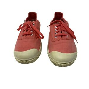 KEEN Sneakers Tennies Lace Up Peach Pink Salmon Vulcanized Rubber Sz 7