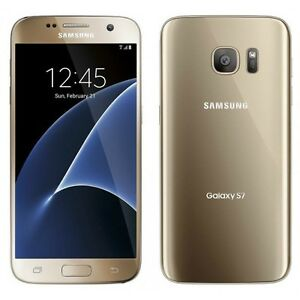 UNLOCKED Samsung Galaxy S7 SM-G930 G930 Gold T-Mobile  Smartphone 4G Excellent