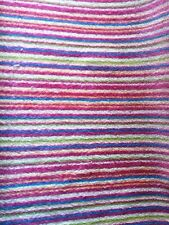 New Girls Candy Pink Purple Stripe Carpet 3.17 M X1.93 M