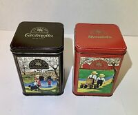 2 Vintage Hersheys Tins Mounds Chocolate Caramello milk chocolate 6 Inch 1990