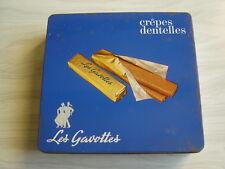 ancienne boite de gateau breton métal CREPES DENTELLES - LES GAVOTTES Dinan