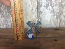 Vintage Egg Timer Windmill , Ceramic Blue And White , Dutch Style