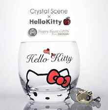 Hello Kitty Swarovski Crystal Glass Gold Charm Sanrio JP Limited Rare Kawaii New