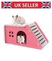 New Pet Wood Castle Toy Hamster House Bed Cage Nest Hedgehog Guinea Pig Hamster