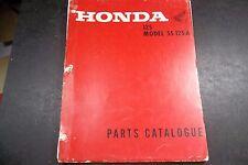 Original Honda SS125a SS 125 Super Sport  Parts Guide Catalog Exploded Views