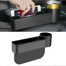 1Pcs Carbon Fiber Look Storage Box Cup Holder Organizer Fit For Car Seat Gap