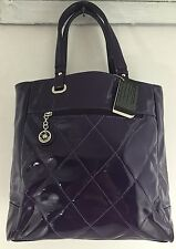 David Jones Quilted Purple Tote Style Handbag Purse
