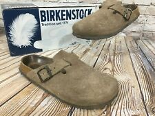 BIRKENSTOCK Betula Tan Suede Sandals Clogs Germany Size 37 / US 6