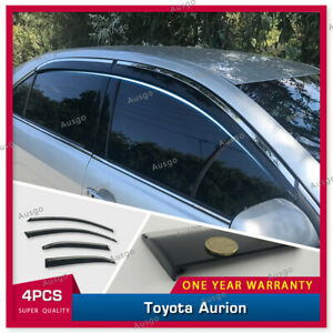 AUS Stainless Steel Weather Shields Weathershields For Toyota Aurion 06-12 #T