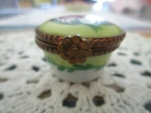 Limoges Hinged Trinket Box in Nice Condition.Hand Painted. Smallish but Lovely.