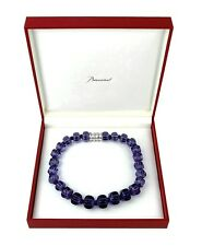 BACCARAT JEWELRY SHERAZADE MEDIUM PARMA VIOLET NECKLACE ST. SILVER NEW FRANCE