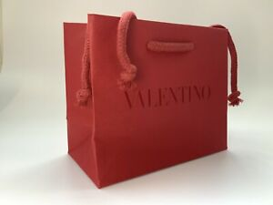 Valentino Red Paper Gift Bag - Brand New