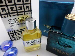 GIVENCHY Gentleman + VERSACE Eros MEN edt MINI Miniature PERFUME Fragrance SET