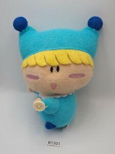 "Mirumo Mirmo B1201 Button Hands Plush 7"" Stuffed Toy Doll Japan"