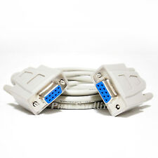 6ft NULL SERIAL DATA TRANSFER CABLE CNX FREE TO AIR nfusion DB9 Female  RS232