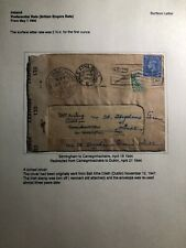 1944 Birmingham England Censored Cover To Carrickmacross Ireland W Letter