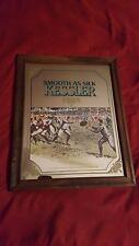 """Vintage Kessler Whiskey """"Smooth As Silk"""" Mirror Football Theme 12.5 """"x 15.5"""""""