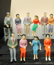 10 SEATED FIGURES FOR  TRAIN STATION SCENE, TRUE 1:24 G SCALE DIORAMA