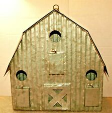 Galvanized corrugated steel tin metal rustic rusty shabby barn birdhouse