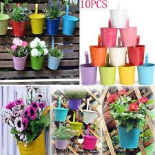 10Pack Flower Pots Hanging Planters Bucket Holders with Hook Home Indoor/Outdoor