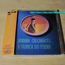 Adriana Calcanhoto - A Fabrica Do Poema JAPAN CD W/OBI #16-3