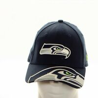 Seattle Seahawks 39Thirty Cap Hat Logo on Front and Bill Dk Blue Med. Large