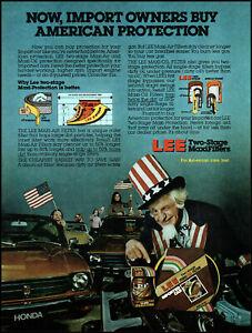 1981 Honda car Uncle Sam Lee Oil Air filters vintage photo print ad ads56