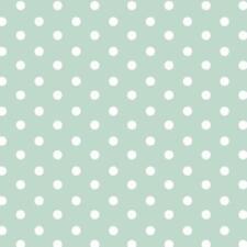 Baumwollstoff Große Punkte Mint METERWARE Webware Popeline Stoff Big Dots