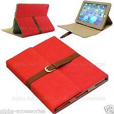 Gamuza Correa De Cuero Funda Apple iPad Air Smart LIBRO Hebilla para 4 , 3 , 2