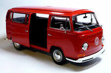 NEU: VW Bus Bulli T2 (1972) 1:24 rot Modellauto ca. 18cm von WELLY Neuware!