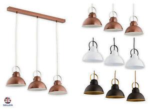 Pendant 3 lights Ceiling Light Copper Vintage Lampshade Industrial Retro Modern