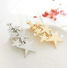 Mutli Star Hair Clips Silver/Gold Starry Hairpin Barrette Slide Grips Hair Clips