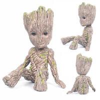 Little Baby Groot Superhero Guardians of the Galaxy Sitting Tree Man Figure Gift