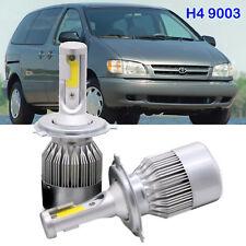 H4 9003 LED Headlight Kit High Low Beam Bulbs For Toyota  Sienna 2000-1998 6000K