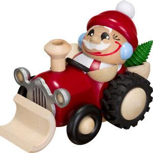 Kugelräucherfigur, Nikolaus im Traktor , Seiffener Volkskunst