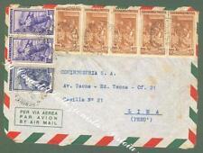 REPUBBLICA ITALIANA. Storia Postale. Frontespizio di aeregramma da Genova x Lima