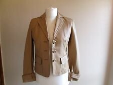 LIZ CLAIBORNE Ladies camel very soft REAL LEATHER jacket size 6/8 petite