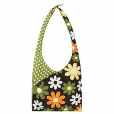 NEW Slingsax Green Polka Dot Brown Floral Eco-Friendly Reusable Bag