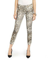 Juicy Couture Leopard Foil Straight Crop Jean JG008543