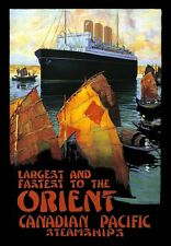 Travel Art affiche Canadian Pacific Orient Railway