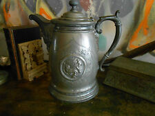 Antique Victorian Iced Water Pitcher. Very Ornate, Old SilverPlate. Walrus hunt!