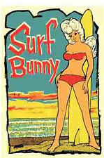 """Surf Bunny"" California Vintage 1960's Style Travel Surfing Sticker Decal"