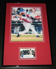 Brandon Phillips Signed Framed Game Used Rookie Card & Photo Display UDA Reds