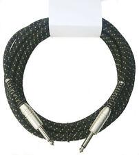 Vintage Cloth Tweed Guitar Cable 20ft  - Black/Gold