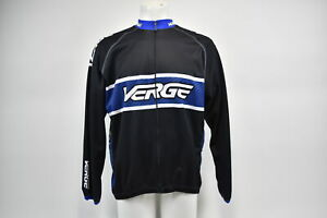 Verge Men's Elite Club L/S Thermal Cycling Jersey, Black/Blue/Carb L NOS