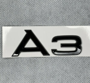 Black Gloss AUDI A3 Badge Emblem For all Models And Years. Elegant Looking. UK