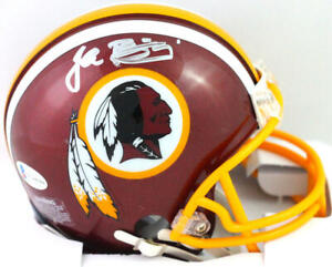 John Riggins Signed Washington Mini Helmet- Beckett W *Silver