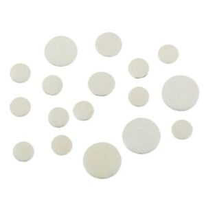 3X(17Pcs/Set Leather Clarinet Replacement Pads 17.3mm 15.1mm 12mm 10mm Whit U4X1