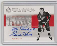 2004-05 SP Authentic Sign of the Times Gordie Howe Mr Hockey autograph